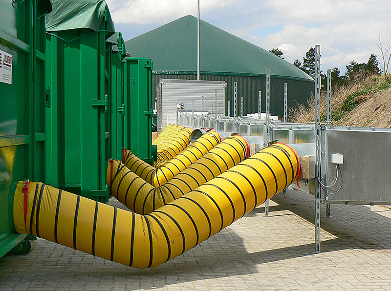 Yellow Flexible Air Ducting